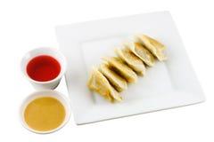 3个饺子油煎了 库存图片