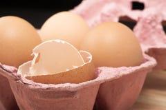 3个鸡蛋 库存照片