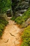3个adrspach岩石teplice 免版税库存图片