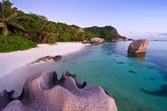 3个anse海滩主要 免版税图库摄影