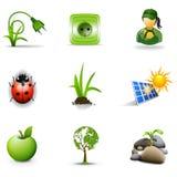 3个eco图标 库存图片