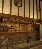 3中世纪小酒馆 免版税库存图片
