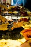 3串烤肉肉 免版税库存图片