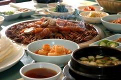 3串烤肉韩文 库存照片