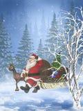 3以后的圣诞老人 库存图片