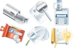 3企业图标零件集合向量 免版税库存照片