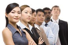 3企业确信的小组 免版税图库摄影
