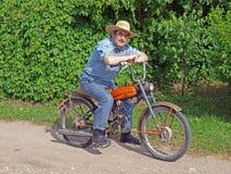 3位农夫脚踏车 免版税库存图片