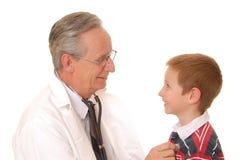 3位医生患者 免版税库存图片