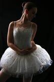 3位芭蕾舞女演员影子 免版税库存图片