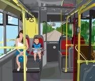3公共汽车 免版税库存图片