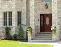 3典雅的入口房子 库存照片