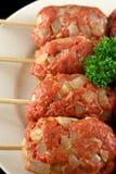 3原始牛肉的kofta 免版税库存图片