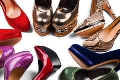 3双行程鞋子 免版税图库摄影