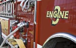 3发动机起火 库存照片