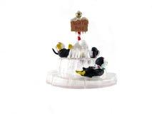 3只圣诞节装饰品企鹅 免版税图库摄影