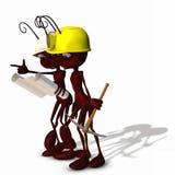 3只蚂蚁建筑 库存照片