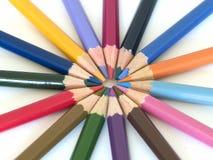 3只蜡笔铅笔 库存图片