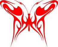 3只蝴蝶火焰状部族向量 库存图片