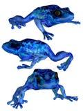 3只青蛙 皇族释放例证