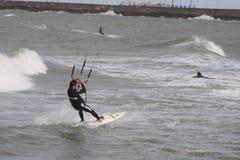 3只风筝海浪 免版税库存照片