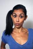 3可笑表达式脸面护理妇女 库存图片