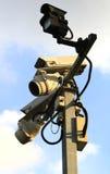 3台照相机证券 库存图片