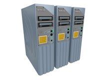 3台3d服务器 向量例证