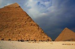 3吉萨棉金字塔 免版税库存图片
