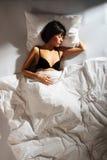 3名上床时间妇女 图库摄影