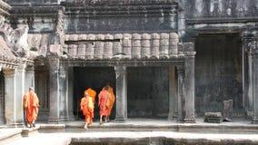 3名angkor修士 免版税库存照片
