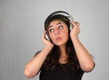 3听的音乐 免版税库存图片