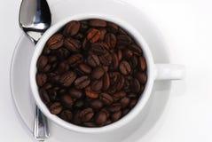 3咖啡杯匙子 免版税图库摄影
