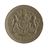 3回到英国硬币设计镑 免版税图库摄影