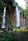 3国家公园plitvice瀑布 免版税库存照片