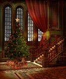 3圣诞节风景 免版税库存照片