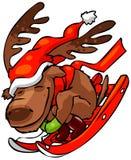 3圣诞节驯鹿 免版税库存图片