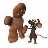 3圣诞节鼠标 图库摄影
