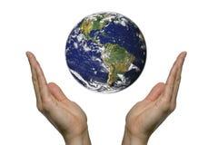 3地球祈祷 图库摄影