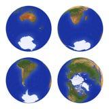 3地球视图 库存图片