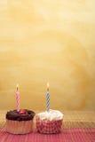 3块杯形蛋糕 免版税图库摄影
