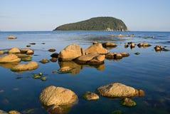 3块海岛石头 免版税库存照片