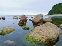 3块海运石头 免版税库存照片