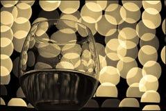 3块玻璃酒 库存照片
