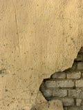 3块砖老墙壁 免版税库存照片