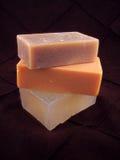 3块自然肥皂 免版税库存图片