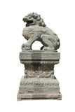 3头狮子雕塑石头 图库摄影