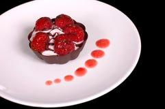 3奶油甜点rasberry馅饼 免版税图库摄影
