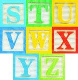 3字母表 免版税库存图片