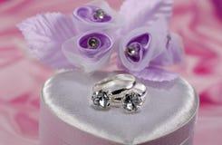 3定婚戒指 库存照片